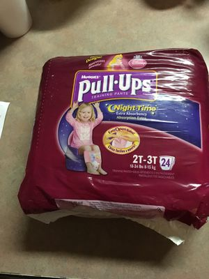Brand new Huggies pull-ups. Size 2T-3T With 24 pull-ups, There are three packages of these. for Sale in Lampasas, TX