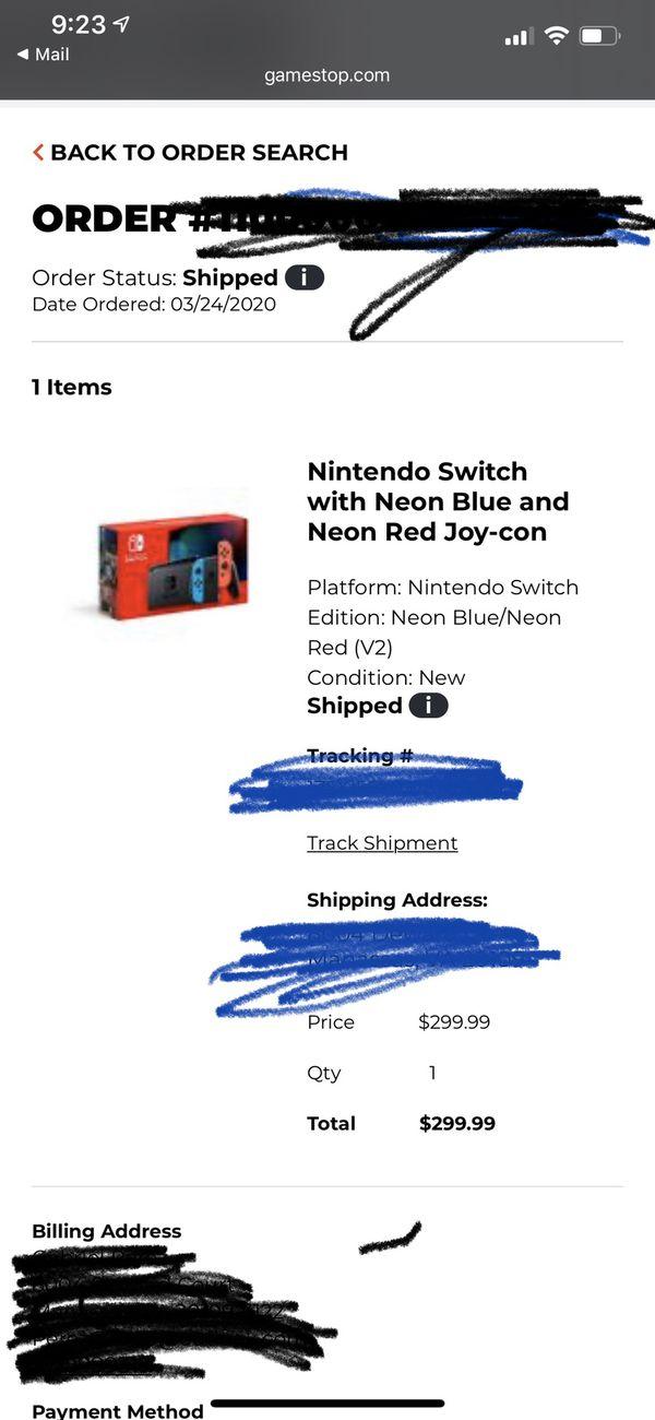 Brand New Nintendo switch Neon / Red New model
