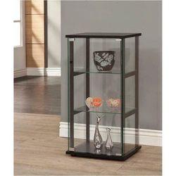 3-Shelf Glass Black Display Curio Cabinet Storage Organizer Push-To-Open Door for Sale in Missouri City,  TX