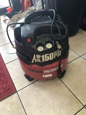 6 gallon pancake compressor Central Machinery 67896 for Sale in Tampa, FL