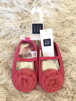 GAP Toile Flower Baby Girl Dress Shoes Pink Brand New! for Sale in McDonough, GA