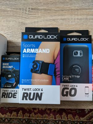 Quadlock phone mount, Samsung S7 case, armband, bike mount for Sale in Denver, CO