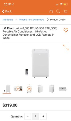 LG portable air conditioner for Sale in Laurel, MD