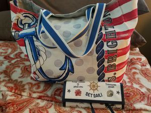 Brighton nautical cruise ship tote & jewlery case bag / please read description for Sale in Youngtown, AZ