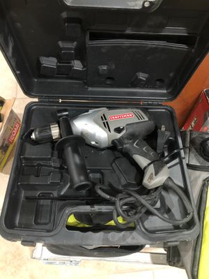 Craftsman electric hammer drill with handle and lead and level for Sale in Dearborn, MI