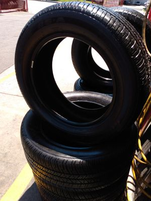 Set 235/55/17 Goodyear Eagle RS-A used $280 Includes installation and balance for Sale in Buena Park, CA
