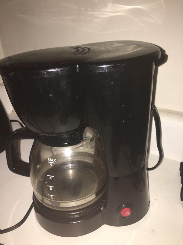 Blender, coffee pot, and crock pot