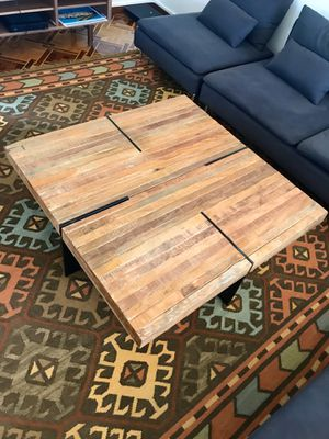 Reclaimed Wood and Metal Frame Coffee Table for Sale in Los Angeles, CA