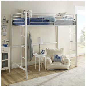 "Loft bunk bed - Twin 7"" IKEA twin mattress included for Sale in Renton, WA"