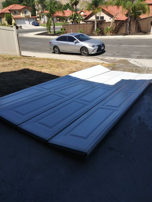 Garage door with motor