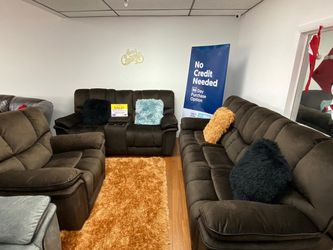 SALE!!! Barcelona Brown Fabric Reclining Sofa, Loveseat and Chair. No Credit Needed Financing. Same Day Delivery 🚚!!! for Sale in Tampa,  FL