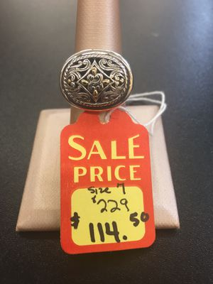 Designer sterling silver ring in size 7 for Sale in San Antonio, TX