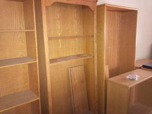 Oak Library w/Adjustable shelves for Sale in Hemet, CA