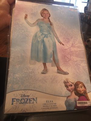Disney Frozen Elsa Costume size S 4-6X for Sale in Richardson, TX