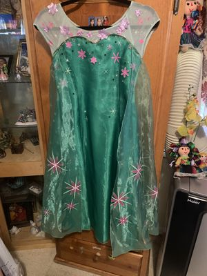 Elsa Halloween costume green summer dress for Sale in Los Angeles, CA