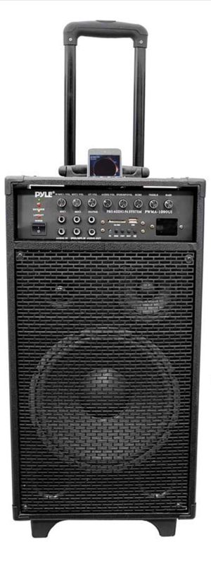 Pyle Pro 800 Watt Outdoor Portable Wireless PA Loud speaker - 10'' Subwoofer Sound System with Charge Dock, Rechargeable Battery, Radio, USB for Sale for sale  New York, NY