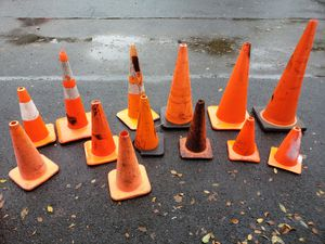 Traffic orange safety cones for Sale in Wilsonville, OR
