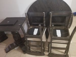 Dining set table ...gray color...like new for Sale in Sebring, FL