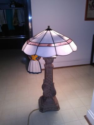 Heavy metal table lamp for Sale in Fort Belvoir, VA