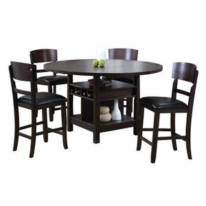 Conner Casual Style Dark Walnut Storage Base Dining Room Set 5Pcs for Sale in Naples, FL