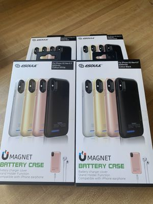 Esoulk Magnet Power Case For IPhone XS MAX 5000mAh (Compatible With Iphone Earphone ) **ALSO AVAILABLE FOR :IPhone 6,7,8,6+,7+,8+X,XS,& XR** BRAND N for Sale in Fontana, CA