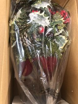 """22"""" Topiary Berries, Holly Leaves, Ribon for Sale in Pompano Beach,  FL"""