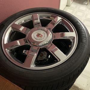 22 Cadi rims Good Tires 1000 for Sale in Houston, TX