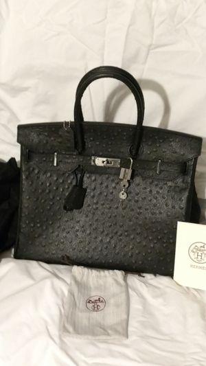 Hermes Birkin 35cm Black Ostrich bag for Sale in Orlando, FL
