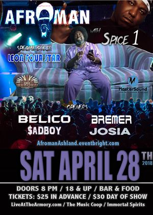 Afroman !!TONIGHT!! Spice1 for Sale in Medford, OR