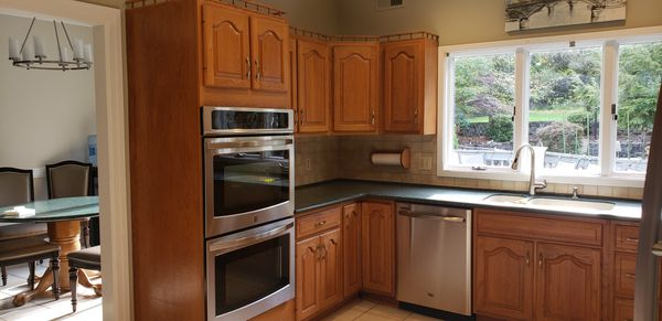 Used solid oak kitchen cabinets