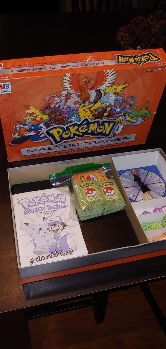 Pokemon Master Trainer Board Game Milton Bradley 2005