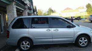 2003 Mazda Mpv 3 rows nothing wrong 135 on dash just got oil changed an added double din tv for Sale in Oxon Hill, MD