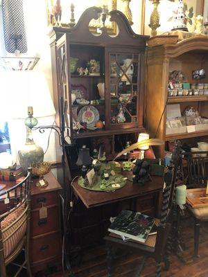 Antique Secretary desk dresser display cabinet for Sale in Tavares, FL