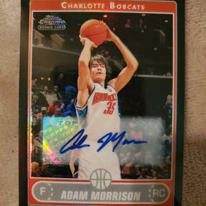 2006-07 Topps Chrome Charlotte Bobcats AUTO #195 Adam Morrison Rookie for Sale in Ocean Shores, WA