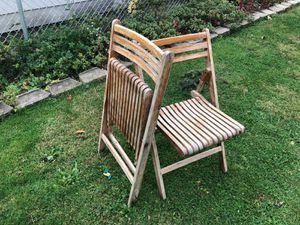 two wooden folding chairs for Sale in Dearborn, MI