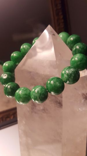 BIG natural 14mm- genuine money green JADE-bracelet 7.5 inch ✈️✈️✈️ shipping only ⭐️⭐️⭐️⭐️⭐️ for Sale in Somerton, AZ