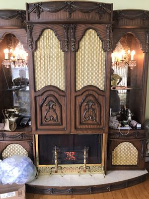 Very rare antique China with light fixtures , grammapfon radio and fake fire place for Sale in New York, NY