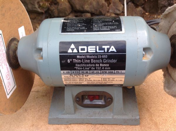 Cool Delta 6 Thin Line Bench Grinder Model 23 660 For Sale In Dailytribune Chair Design For Home Dailytribuneorg