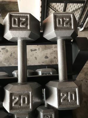Hex Dumbbells (2x20s) for $30 Firm!!! for Sale in Burbank, CA