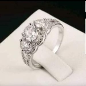 $10 new size 7 8 or 9 silver plated CZ ring for Sale in Ballwin, MO
