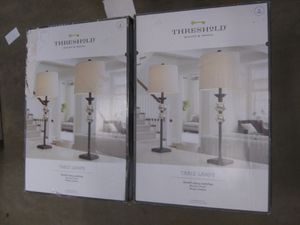 4 Threshold Table Lamps : On/Off Rotary switches for Sale in Baldwin Park, CA