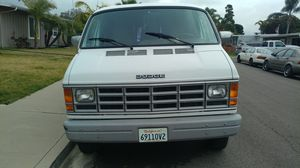 White Dodge Van 1991, for 2700 ,New tires &rims. At 6315 Celia Vista Dr , come Look at it talk to Kenny & Dean {contact info removed} VM or TX for Sale in San Diego, CA