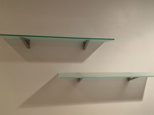 Pair of Glass Wall Shelves for Sale in Boca Raton, FL