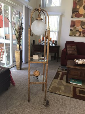 Antique Table with Lamp for Sale in San Jose, CA