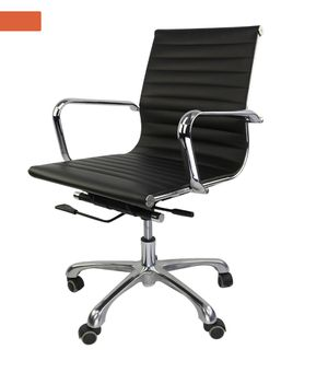 Used, Mid Back Low Eames Style Ribbed Management Office Chair for Sale for sale  New York, NY