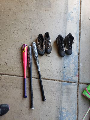 Baseball bats and Nike cleats for Sale in Phoenix, AZ