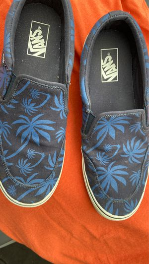 10.5 Vans Navy Blue with Palm Tree Print for Sale in Murfreesboro, TN