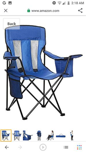 New in box XL camping chairs with cooler for Sale in Santa Clarita, CA