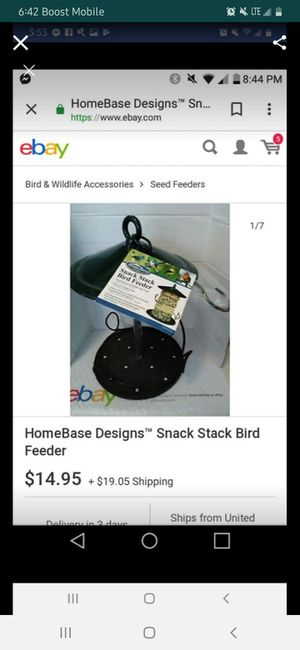 Snack stack bird feeder. for Sale in Salisbury, NC