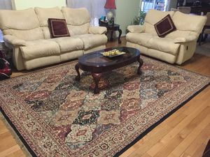 Lazy boy recliner sofa, love seat and rug for Sale in Lansdowne, VA